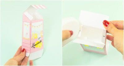 How to make a paper box. Diy Printable Lemonade Stand Favor Box - Step 2