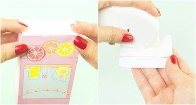 How to make a paper box. Diy Printable Lemonade Stand Favor Box - Step 3