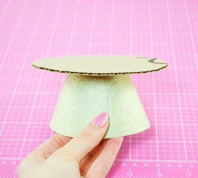 How to make a cake stand. Diy Cardboard Cupcake Stand - Step 8