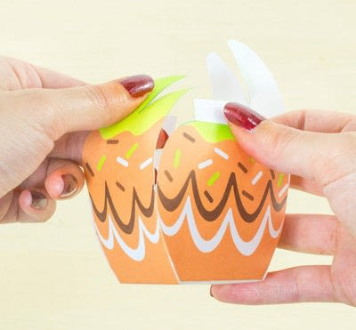 How to make a paper box. Diy Printable Candy Apple Favor Boxes - Step 3
