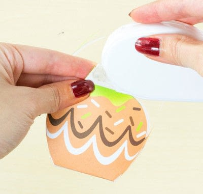 How to make a paper box. Diy Printable Candy Apple Favor Boxes - Step 5