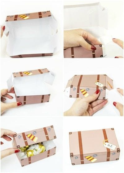 How to make a paper box. Diy Printable Harry Potter Inspired Favor Boxes - Step 3