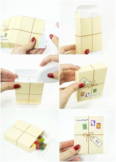 How to make a paper box. Diy Printable Harry Potter Inspired Favor Boxes - Step 4