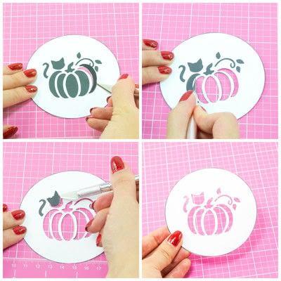 How to make a stencil. Diy Fall Latte Art Stencils - Step 1
