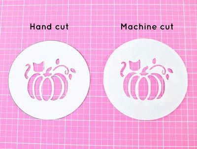 How to make a stencil. Diy Fall Latte Art Stencils - Step 2