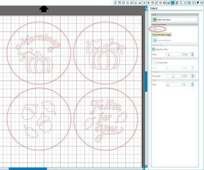 How to make a stencil. Diy Fall Latte Art Stencils - Step 4