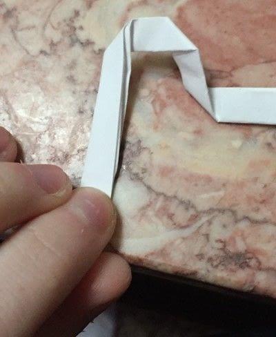 How to fold an origami shape. Origami Key - Step 10