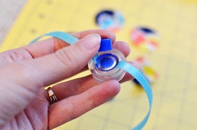 How to make a button bracelet. Easy Cover Button Bracelet - Step 10