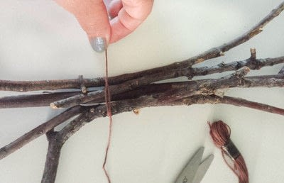 How to make a twig ornament. Twig Tree Wall Decor Diy - Step 3