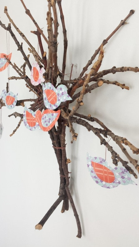 Twig Wall Decor twig tree wall decor diy · how to make a twig ornament · home +
