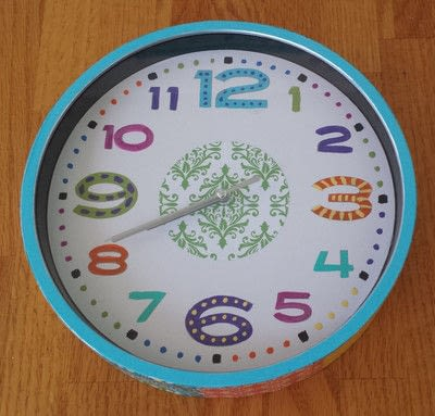 How to make a clock. Boho Wall Clock Diy - Step 9