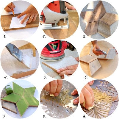 How to make a Christmas decoration. 5 Point Scrap Wood Star Diy - Step 3