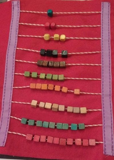 How to make a play book. Bead Counting Quiet Book Page - Step 4