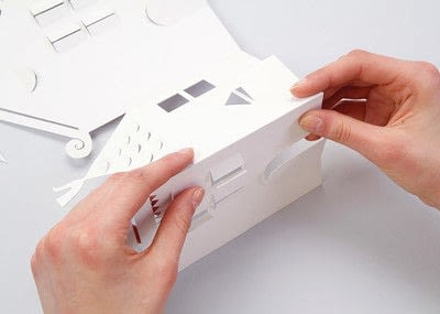 How to make a lantern. Tealight Houses - Step 4