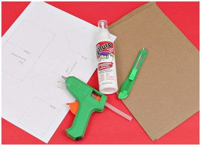 How to make an ornament. Cardboard Ginger Bread House Ornaments - Step 2