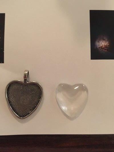 How to make a photo pendant. Nebula Necklace - Step 1