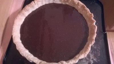 How to bake a chocolate tart. Coconut & Chocolate Tart - Step 3