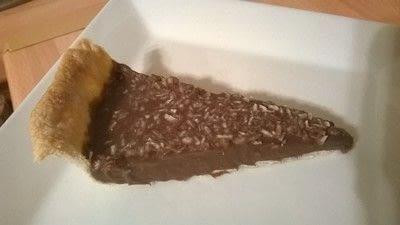 How to bake a chocolate tart. Coconut & Chocolate Tart - Step 5