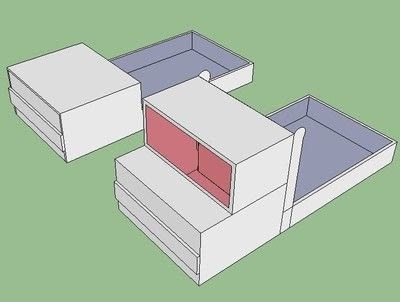 How to make a papercraft. Truck From A Milk Brick - Step 1