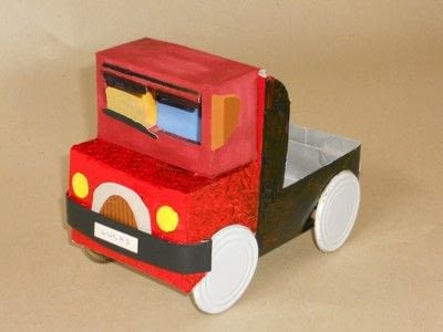 How to make a papercraft. Truck From A Milk Brick - Step 2