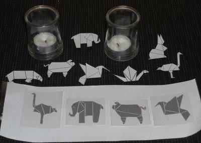 How to make a decorative light. Origami Themed Tea Lights - Step 1