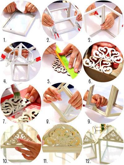 How to make a terrarium. Dollar Store Frame Terrariums - Step 3