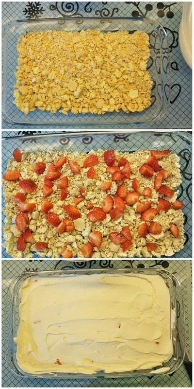 How to bake a meringue. Dessert Strawberries, Meringues And Whipped Cream (Recipe From Portugal) - Step 2