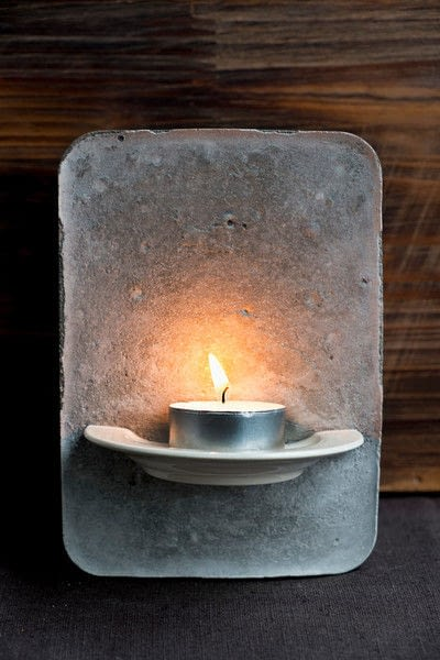 How to make a votive / candle holder. Tea Light Holder From Cement  Diy  - Step 4