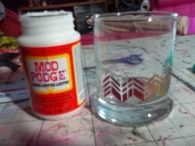 How to make a mixed media. Tattoo Jar - Step 6