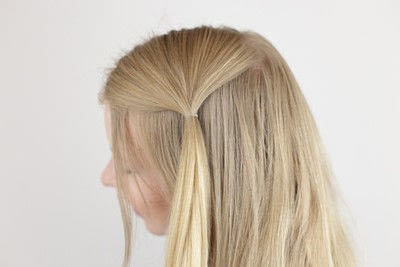 How to style a side braid. Topsy Tail Braid - Step 2