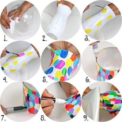 How to make a decoration. Confetti Vases - Step 3
