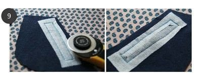 How to sew a pocket. Zippered Angled Pockets - Step 7