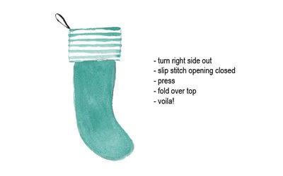 How to make a Christmas stocking. Diy Holiday Stocking - Step 4