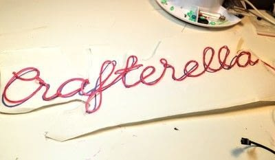 How to make a decorative light. Diy Neon Sign - Step 9