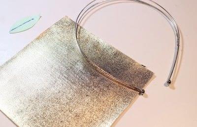 How to make a fabric headband. Winter Leaves Headband - Step 1