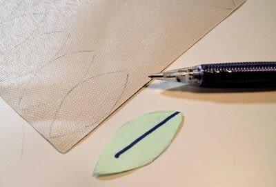How to make a fabric headband. Winter Leaves Headband - Step 2