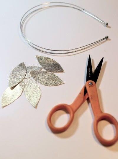 How to make a fabric headband. Winter Leaves Headband - Step 3