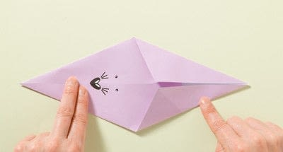 How to fold an origami animal. Origami Mouse - Step 2