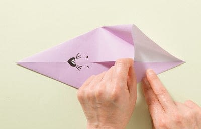 How to fold an origami animal. Origami Mouse - Step 3