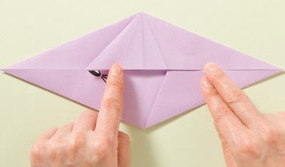 How to fold an origami animal. Origami Mouse - Step 4