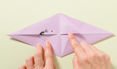 How to fold an origami animal. Origami Mouse - Step 5