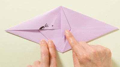 How to fold an origami animal. Origami Mouse - Step 6