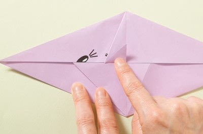 How to fold an origami animal. Origami Mouse - Step 8