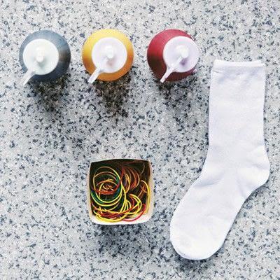 How to make a sock. Carnival Socks - Step 2