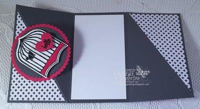How to make a greetings card. Twist Gate Card Fold - Step 4