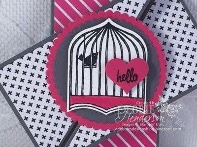 How to make a greetings card. Twist Gate Card Fold - Step 5