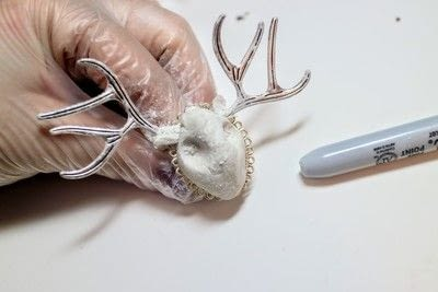 How to make an animal ring. Jackalope Ring - Step 3