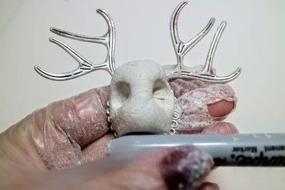 How to make an animal ring. Jackalope Ring - Step 4
