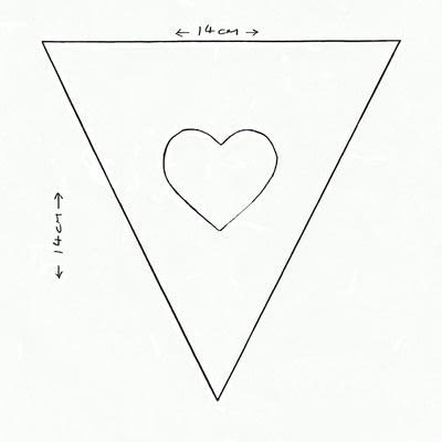 How to make bunting. Valentine Bunting - Step 1