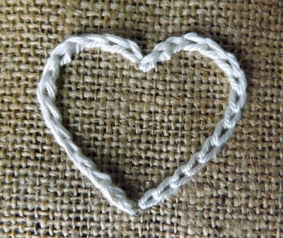 How to make bunting. Valentine Bunting - Step 2